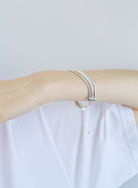 layered snake chain bracelet