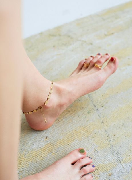 hollow plate anklet