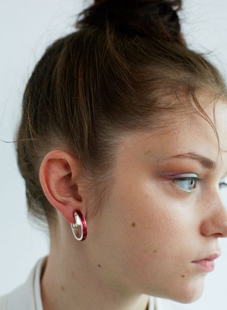 gloss color hoop earring