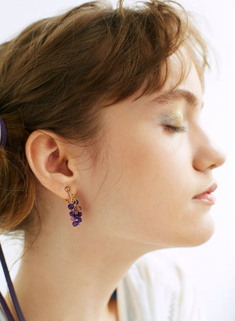 ripe grapes earring