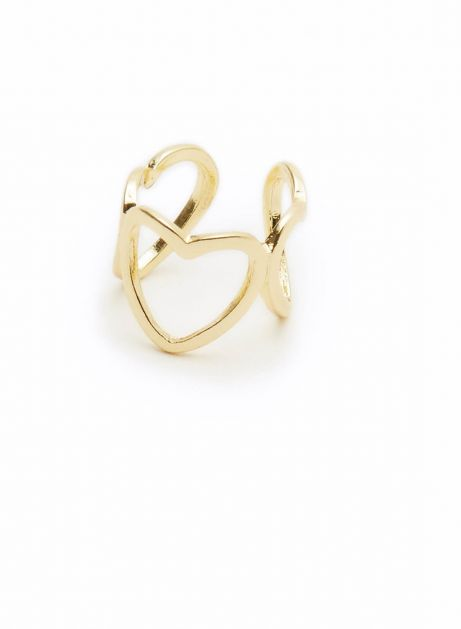 heart connect cuff pinky ring