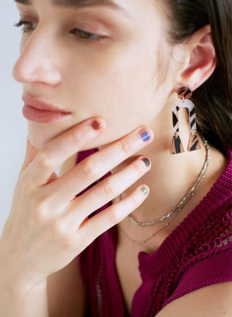 tiger clear earring