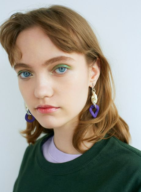 mix color chain earring