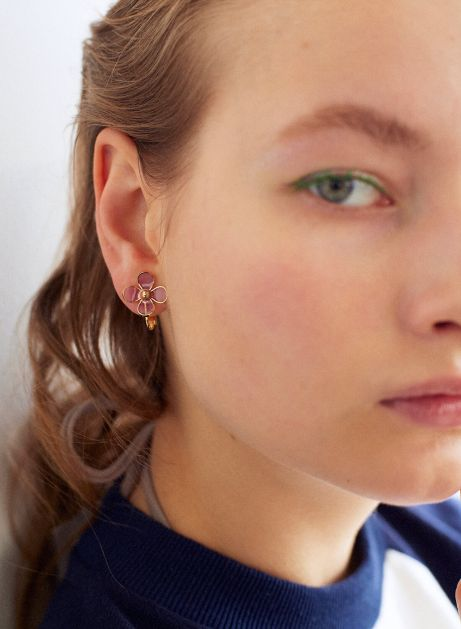 airy lilac earring