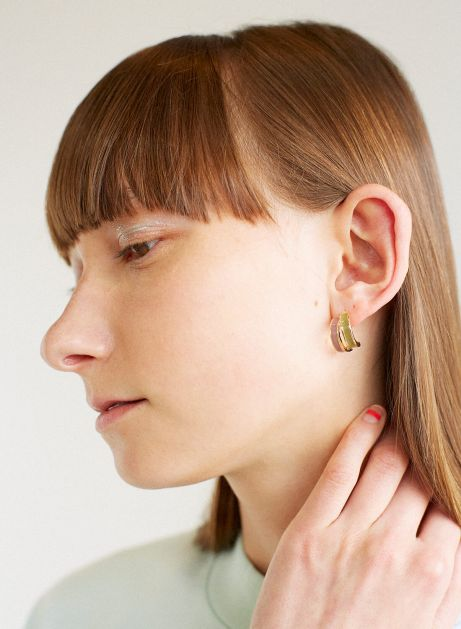 nude color way earring