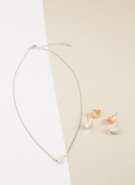 for heart collector pierce & necklace set