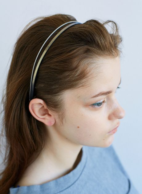 knit metal headband set