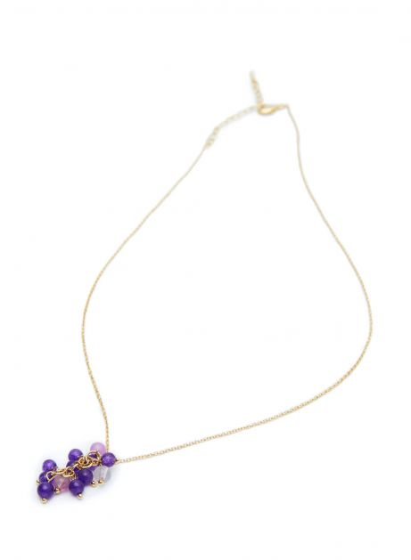 ripe grapes necklace