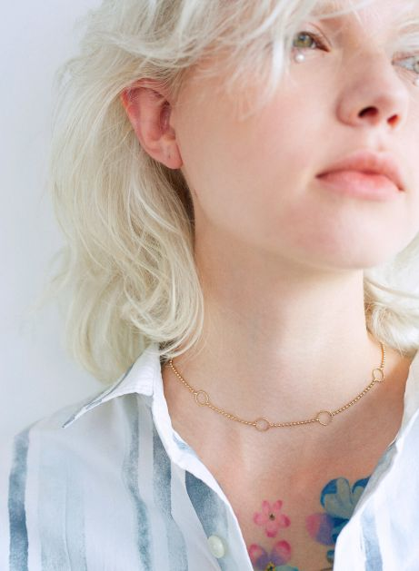 ring dot necklace