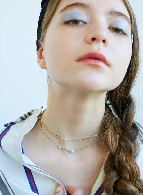 wiggly pearl set choker